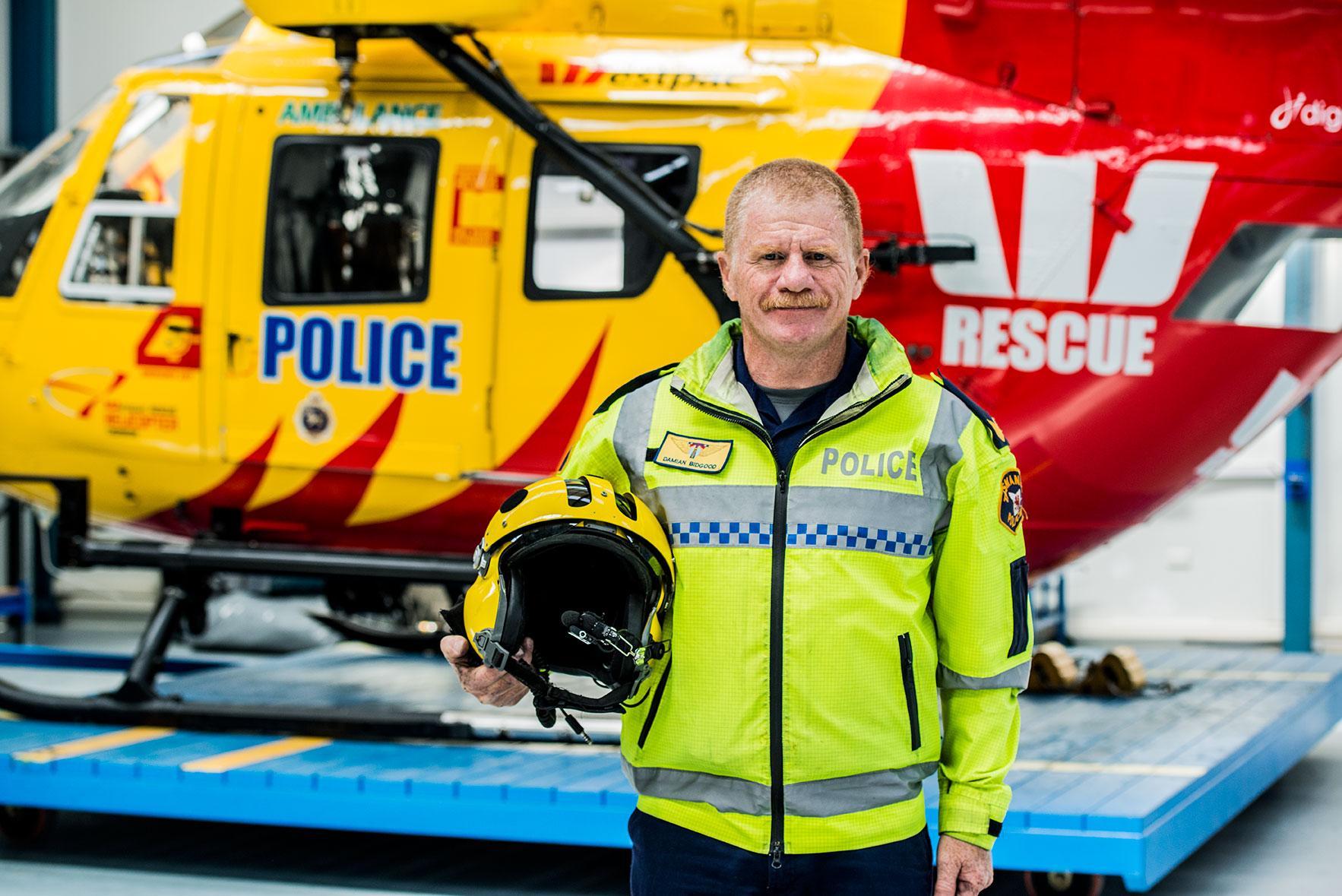 Westpac Rescue Helicopter Tasmania - Chief Crewman Sergeant Damian Bidgood