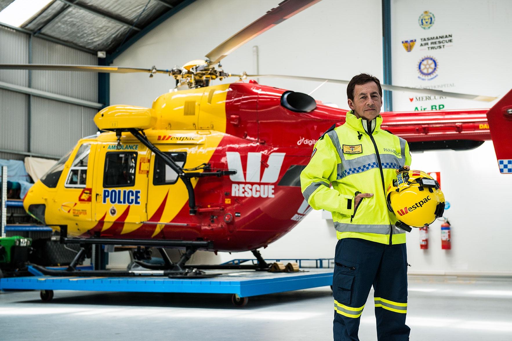 Paramedics Westpac Rescue Helicopter Tasmania