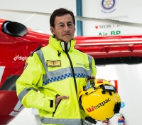 Westpac Rescue Helicopter Tasmania and Ambulance Tasmania paramedic Peter Hampton