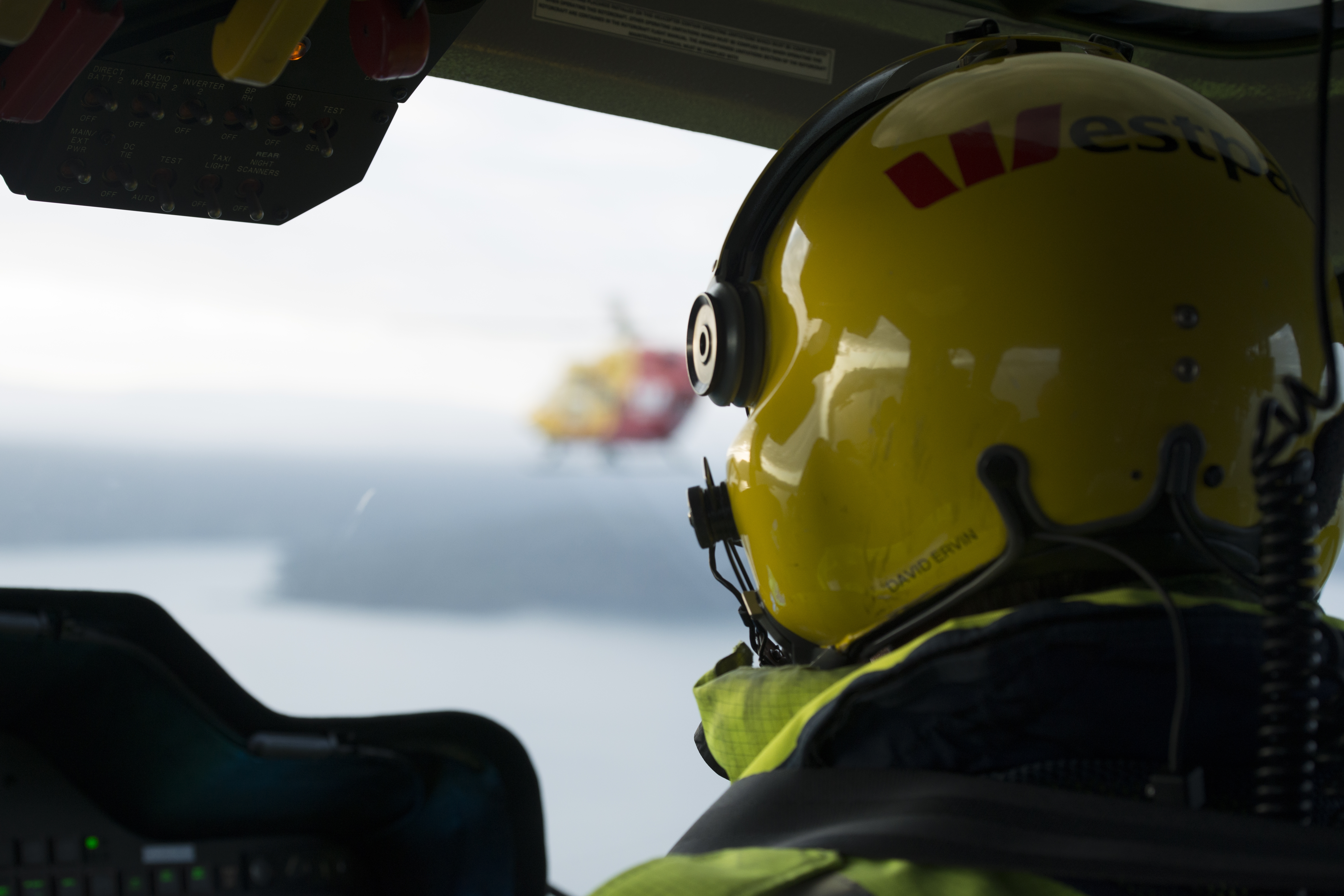 Westpac Rescue Helicopter Tasmania Chief Pilot Dave Ervin inflight