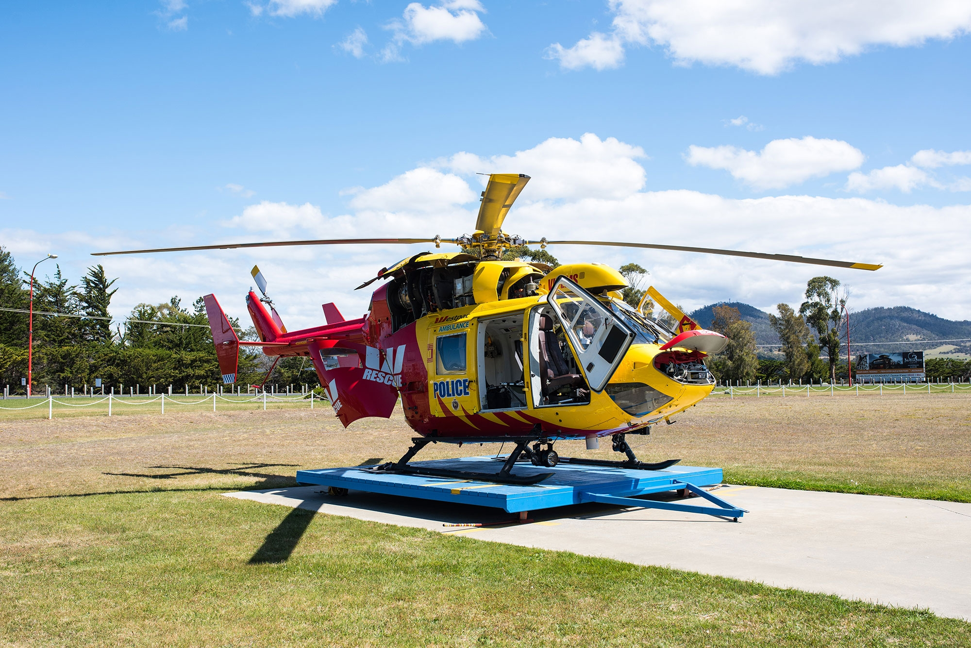 Westpac Rescue Helicopter Tasmania Cowlings Open