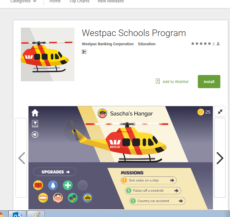Westpac Rescue Helicopter App